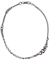 Werkstatt:münchen | Metallic Silver Graduated Curb Chain Necklace for Men | Lyst