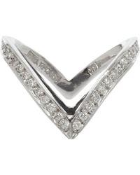 Ana Khouri - Metallic Diamond Double Livia Ring - Lyst