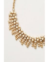 Anthropologie - Metallic Vintage Buttercup Bib Necklace - Lyst