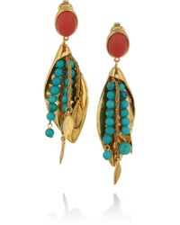 Aurelie Bidermann | Multicolor Pendant Earrings With Stones | Lyst