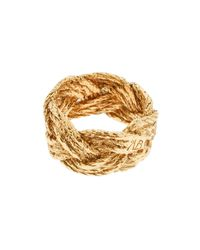 Aurelie Bidermann - Metallic 18k Gold Plated Plait Ring - Lyst