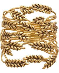 Aurelie Bidermann | Metallic Gold Wheat Cuff | Lyst
