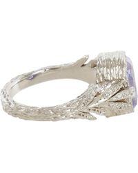 Cathy Waterman | Blue Sapphire Leafside Ring | Lyst