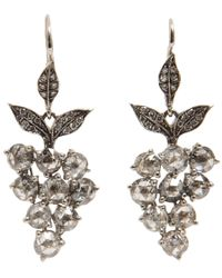 Cathy Waterman | Metallic Grey Diamond Grape Earrings | Lyst