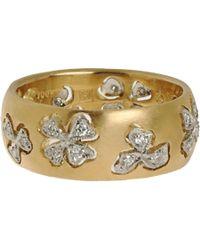 Cathy Waterman - Yellow Diamond Floating Lights Wildflower Ring - Lyst