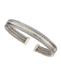 Charriol - White Diamondbar Cable Bangle - Lyst