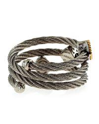 Charriol - Metallic Three Station Diamond Cable Ring  - Lyst