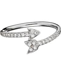 Finn - Metallic Diamond Arrow Ring - Lyst