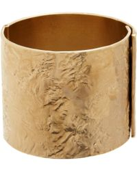 Givenchy - Metallic Pale Gold Wrinkledtexture Cuff - Lyst