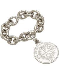 Givenchy - Metallic Palladium Small Medallion Bracelet - Lyst