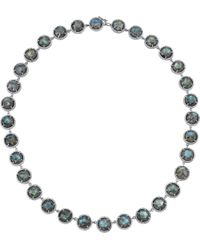 Irene Neuwirth - Green Labradorite Pave Diamond Necklace - Lyst