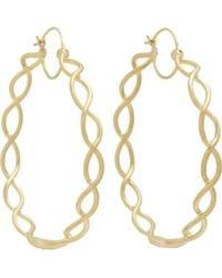 Irene Neuwirth - Metallic Gold Braided Hoop Earrings - Lyst