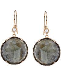 Irene Neuwirth | Gray Labradorite, Diamond & Rose Gold Drop Earrings | Lyst
