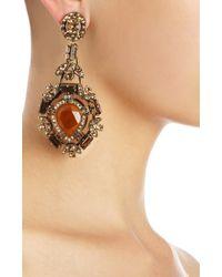 Lanvin - Metallic Crystal Babylon Clip Earrings - Lyst