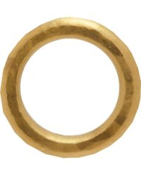 Linda Lee Johnson - Metallic Hammered Gold Womens Band - Lyst