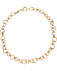 Lucifer Vir Honestus - Pink Rose Gold Small Naif Chain Necklace - Lyst