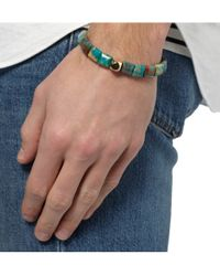 Luis Morais - Blue Gold And Jasper Bracelet for Men - Lyst