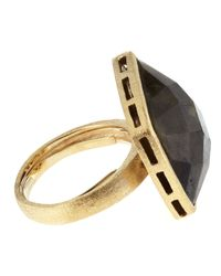 Marcia Moran - Black Faceted Agate Ring - Lyst