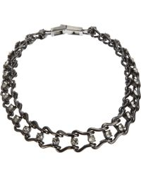 Mawi - Metallic Crystal Ladder Chain Necklace - Lyst