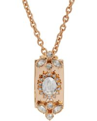 Mawi - Pink Crystal Razor Blade Pendant Necklace - Lyst