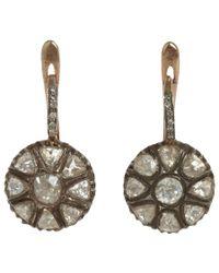 Munnu | Metallic Rose Cut Diamond Drop Earrings | Lyst