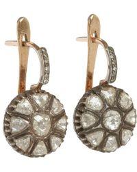 Munnu - Metallic Rose Cut Diamond Drop Earrings - Lyst