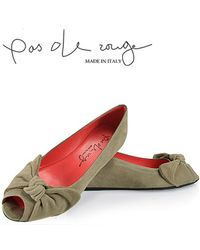 Pas De Rouge | Gray E813 Open Toe Wedge | Lyst