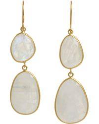 Pippa Small - Metallic Rainbow Moonstone Double Drop Earrings - Lyst