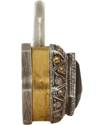 Sevan Biçakci - Metallic Tourmaline Diamond Large Padlock - Lyst