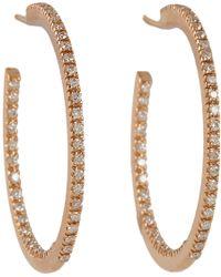 Sidney Garber | Metallic Diamond Rose Gold Petite Perfect Round Hoop Earrings | Lyst