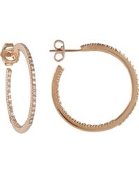 Sidney Garber - Metallic Diamond Rose Gold Petite Perfect Round Hoop Earrings - Lyst