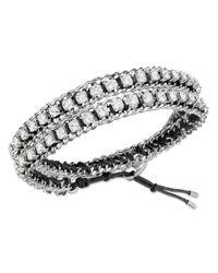 Swarovski | Metallic Venetie Double Bracelet | Lyst