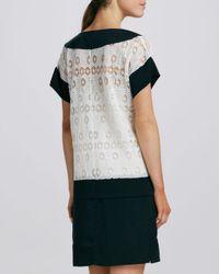 Catherine Malandrino - White Joanna Twotone Lace Dress - Lyst