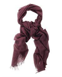 John Varvatos - Purple Wool and Silk Blend Scarf for Men - Lyst