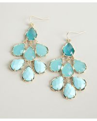 Kendra Scott - Blue Glisten Mixed Stone Dahlia Tiered Earrings - Lyst