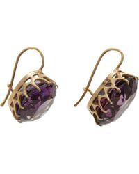 Olivia Collings   Purple Amethyst Drop Earrings   Lyst
