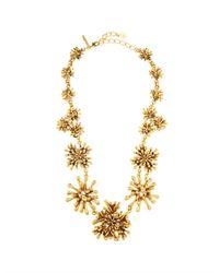 Oscar de la Renta - Metallic Seaweed Necklace - Lyst