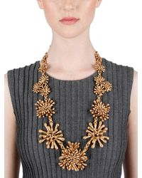 Oscar de la Renta - Metallic Seaweed Necklace - Lyst