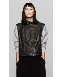 Rag & Bone | Black Moto Leather Vest | Lyst