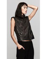 Rag & Bone   Black Moto Leather Vest   Lyst