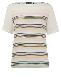 Raoul - Multicolor Pastel Stripe Silk Top - Lyst