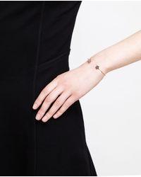 Rosa De La Cruz | Black 18k Gold And Diamond Star Bangle | Lyst