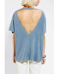 Urban Outfitters | Blue Truly Madly Deeply Open Back Stephanie Tee | Lyst