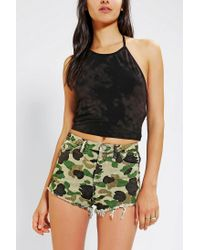 Urban Outfitters | Green Truly Madly Deeply Cropped Halter Top | Lyst