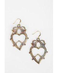 Urban Outfitters - Metallic Bing Bang Large Heart Earring - Lyst
