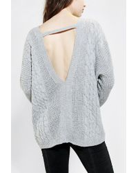 Urban Outfitters | Gray Pins and Needles V-back Sweater | Lyst