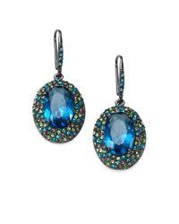 ABS By Allen Schwartz - Blue Drop Earrings - Lyst