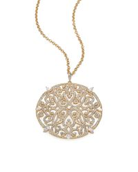 Adriana Orsini - Metallic Filigree Sparkle Necklace - Lyst