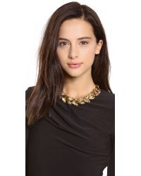 Aerin Erickson Beamon - Metallic Leaf Wreath Necklace - Lyst