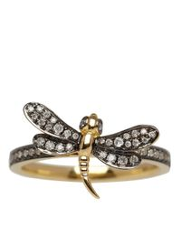 Annoushka | Metallic Gold Love Diamonds Diamond Dragonfly Ring | Lyst
